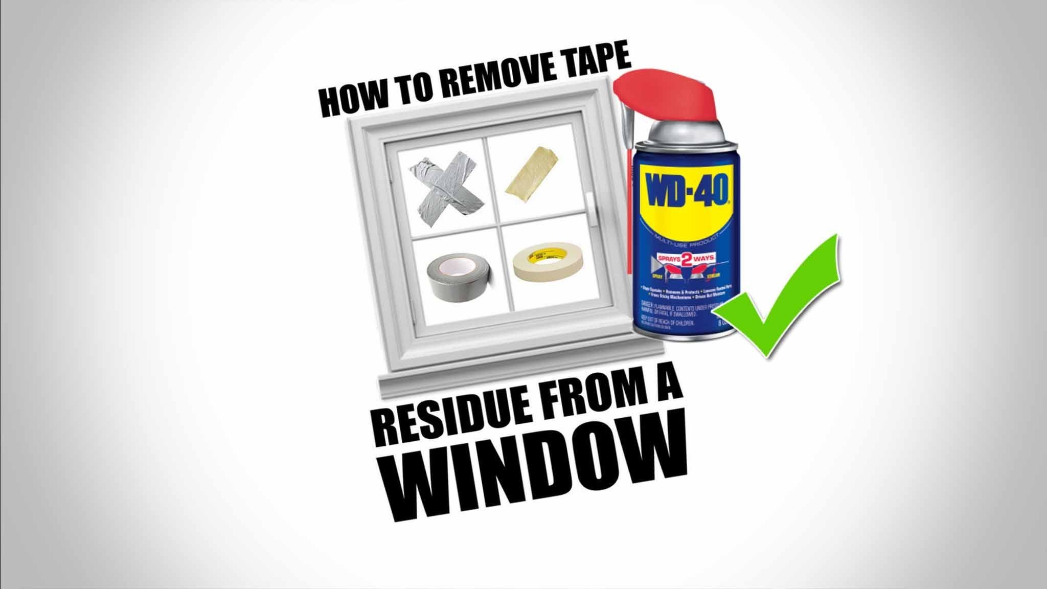 how to remove tape
