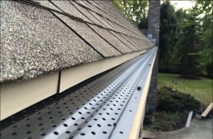 gutter gaurds protecting the eavestrough of a toronto home